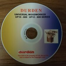 DURDEN UP10/600 AND UP12/600 UNIVERSAL PACEMAKER WOODWORKER DVD