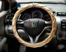 Lady bling steering wheel cover leather diamond steering-wheel Hot selling Gold