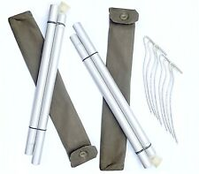 Army surplus poles & pegs set x2 canvas pouch tent bivi basha emergency shelter