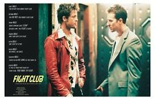 FIGHT CLUB - RULES MOVIE POSTER 24x36 PITT NORTON FINCHER 45325