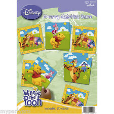 Winnie the Pooh & Friends Memory Matching Game Birthday Party Supplies Disney