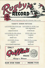 H.S.O.B, Albion, Merivale, Technical O.B 9 May 1959 Canterbury NZ Rugby Prog