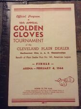 1944 Cleveland Arena Boxing Program Golden Gloves Tournament Finals Plain Dealer