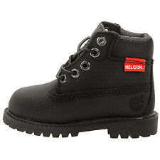 """Timberland 6"""" Premium Toddler 6587R Black Scuff Proof Helcor Boots Baby Size 4"""