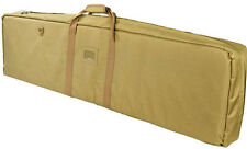 "48"" AR15 Discreet Double Carbine Rifle Case M4 AK Hunt Rifle Range Bag VISM Tan."