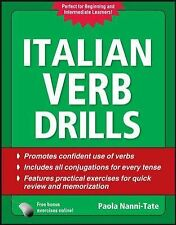 Italian Verb Drills, Third Edition by Paola Nanni-Tate (2010, Paperback)