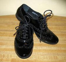 Born Shiny Black Patent Leather Wingtip Oxfords Shoe US 8.5 EUR 40 EX COND!