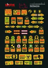 Apocalyptic Zombie Warning Signs / 1:35 scale decal kit