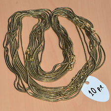 """WHOLESALE 10PC SOLID BRASS PLAIN NICE LONG CHAIN NECKLACE JEWELRY LOT L-22"""""""