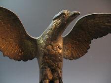 Antique 19th century American Gilt Bronze Eagle Figure Statue Flag Pole Federal
