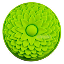"8.7"" Sunflower Flan Birthday Party Cake Bread Pie Silicone Mold Pan Bakeware ll"