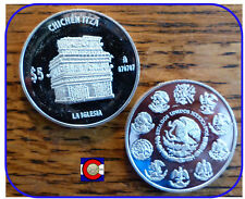 2012 Mexico Chichen Itza Silver Proof 1 oz 5 Peso Coin - The Church