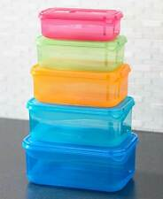 The Lakeside Collection 10-Pc. Colorful Rectangle Food Storage Sets