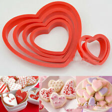 6Pcs Heart Cookie Biscuit Fondant Cake Cutter Decor Tools Mold Sugar Crafts Set