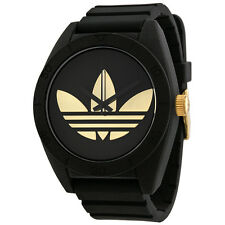 Adidas Santiago XL Black Dial Black Rubber Strap Mens Watch ADH2712