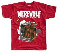 WEREWOLF The Last Warrior Nes T shirt red yellow blue  Arcade Famicom NINTENDO