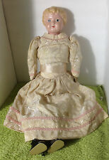 Vintage Antique MINERVA Germany 6 Metal Tin Head Woman Female Doll 21.5""