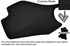 BLACK STITCH CUSTOM FITS APRILIA RS4 125 11-12 FRONT LEATHER SEAT COVER