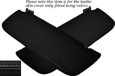 BLACK STITCH 2X SUN VISORS LEATHER SKIN COVERS FITS MERCEDES SPRINTER 2014+