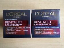 L'OREAL REVITALIFT LASER RENEW ANTI AGEING TRIPLE ACTION DAY & NIGHT CREAM 2X50M