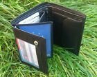 Mens Genuine Cow Leather Wallet ID Photo Credit Card Holder Bifold Purse