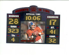 1996 Pacific Litho-Cel JOHN ELWAY Denver Broncos Moments in Time Insert Card