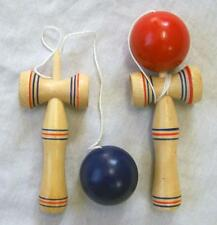 2 WOOD KENDAMA PLAY TOY CATCH THE BALL GAME wooden toys on string NEW balance