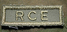 """CANADIAN ARMY COMBAT TAB UNIT BADGE ENGINEER INSIGNIA """"RCE"""" BUY 1 GET 1 FREE"""