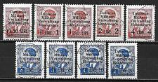 German Occupation Montenegro stamps 1943 MI 1-9  CANC(on request)  VF