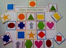 SHAPE MATCH GAME  -SPECIAL NEEDS/ PRE-SCHOOL/ EYFS/ FIRST LEARNING/ RECOGNITION