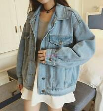 Retro New Womens Oversize Denim Jeans Jacket Boyfriend Vintage Style Coat Air@
