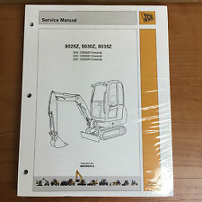 JCB Service 8025z, 8030z, 8035z Mini Excavator Manual