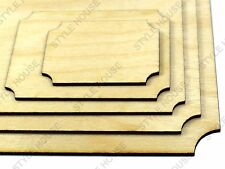 A5 PLY WOOD SCALLOPED PLAQUE CRAFT WOODEN VINTAGE SHAPE PYROGRAPHY BLANK, 4 PACK