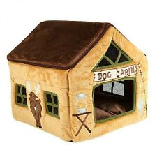 New Princess Pink Poodle's Cafe Pet Dog Cat House Beds Kennel Puppy Tent SizeL