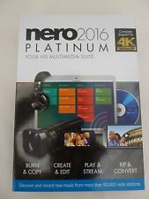 Nero 2016 Platinum – [Brand New In Retail Box  with Free Shipping ]