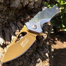 MTech Ballistic Silver w/ Gold Blade Small Pocket Knife w/ Bottle Opener!