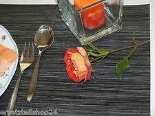 PVC Tischset Seegras schwarz anthrazit, abwaschbar rutschfest Platzset Dekor # 6