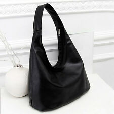 Fashion Women's Faux Leather Shoulder Bag Satchel Handbag Simple Tote Hobo Bags