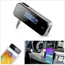 3.5mm Wireless In-Car Handsfree Audio Music Stereo FM Transmitter for Smartphone