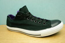 Classic Converse Mens Size 9 UK All Star OX Black & Purple Low Trainers