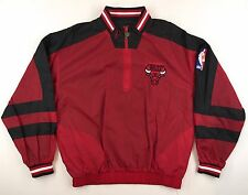 Vintage Chicago Bulls Chalk Reversible Pro Player Jacket Size L Jordan 90's