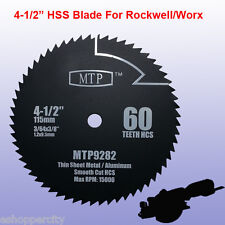 "4-1/2"" inch 60T HSS Metal Saw Blade for ROCKWELL RK3441K WORX RW9282"