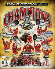 2015 Stanley Cup CHICAGO BLACKHAWKS Glossy 8x10 Photo Limited Edition Collage