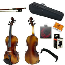 Summer SALE Paititi 4/4 Solid Wood Violin w Case One Bow Rosin Tuner
