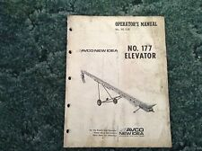 985966 - Is A Used Operators Manual For A New Idea No. 177 Elevators
