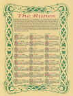 RUNES POSTER A4 SIZE Wicca Pagan Witch Goth BOOK OF SHADOWS