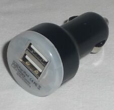CAR CIGARETTE LIGHTER to double 2 x USB Port Adapter NEW Converter Charger BLACK
