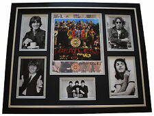 Peter Blake SIGNED Framed Photo Autograph Huge display Beatles Art Music COA