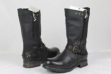 UGG Italian Collection Cosima Leather Tall  Boots Black Size  US 39 EU