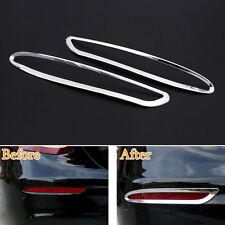 2x Auto Car Rear Fog Light Lamp Cover Frame Trim ABS For Benz W213 E Class 2016
